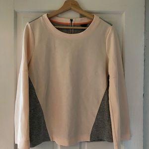Ann Taylor Peach and Gray Sweatshirt